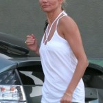 EXCLUSIVE: Cameron Diaz leaves a sound studio with a rare candid smile